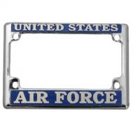 US Air Force Chrome Motorcycle License Frame