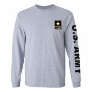 US Army Grey Long Sleeve Tee