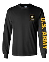 US Army Black Long Sleeve Tee