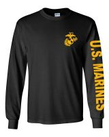 US Marine Corps Long Sleeve Cotton Tee