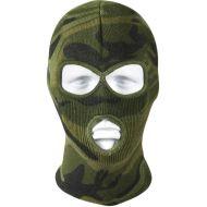 Woodland Camouflage Deluxe 3-Hole Face Mask