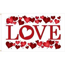 """Valentine's Day """"Love"""" Flag - 3 ft X 5 ft"""