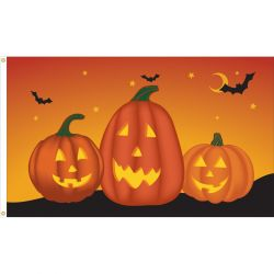Deluxe Pumpkin Flag - 3 ft X 5 ft