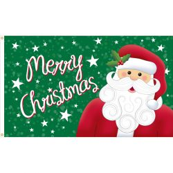 Merry Christmas Santa Flag