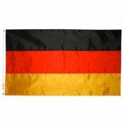 Nylon Germany Flag - 12 in X 18 in