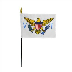 US Virgin Islands Stick Flags - 4 in X 6 in