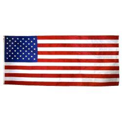 Annin Nyl-Glo Nylon American Casket Flag - 5 ft X 9 1/2 ft