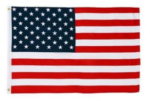Econo-Poly US Flag - 12 in X 18 in