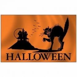 Halloween Cat Flag - 3 ft X 5 ft