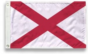 State-Tex Commercial Grade Alabama State Flag - 3 ft X 5 ft