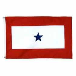 2' x 3' Blue Star Service Flag