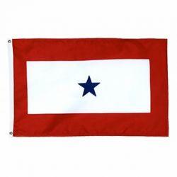 3' x 5' Appliqued Blue Star Service Flag