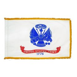 3' X 5' Indoor Fringed Nylon Army Flag