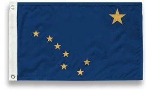 State-Tex Commercial Grade Alaska State Flag - 4 ft X 6 ft