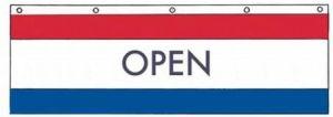 Nylon Open Banner - 3 ft X 10 ft
