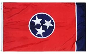 Nylon Tennessee State Flag - 12 in X 18 in