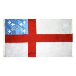 Nylon Episcopal Flag - 5 ft X 8 ft