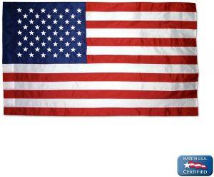 Americana Nylon Indoor American Flag - 5 ft X 8 ft
