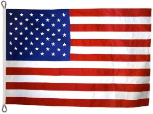 Tough-Tex Heavy Duty American Flag - With Rope Heading - 10 ft X 19 ft
