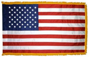 Nylon Fringed American Flag - 2 ft X 3 ft