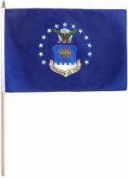 US Air Force Stick Flag - 12 in X 18 in