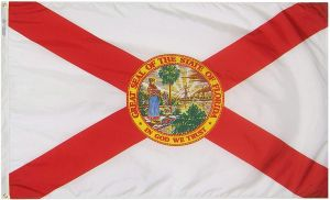 Nylon Florida State Flag - 3 ft X 5 ft