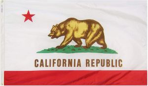Nylon California State Flag - 12 in X 18 in