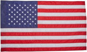 Nylon U.S. Flag with Pole Sleeve - 3 ft X 5 ft