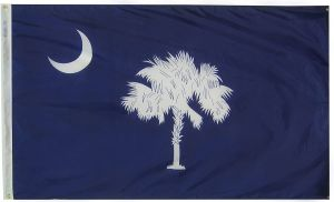 Nylon South Carolina State Flag - 12 in X 18 in