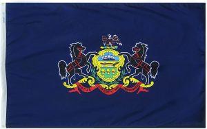 Nylon Pennsylvania State Flag - 2 ft X 3 ft