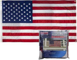 Premium Nylon Mounted Balcony US Flag Kit