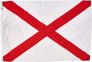 Nylon Alabama State Flag - 12 in X 18 in