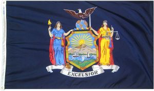 Nylon New York State Flag - 10 ft X 15 ft