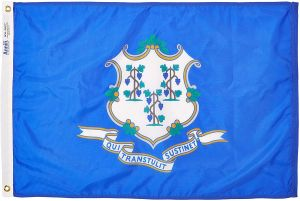 Nylon Connecticut State Flag - 2 ft X 3 ft