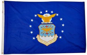Nylon Air Force Flag - 12 in X 18 in