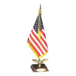 Ambassador US Flag Desk Set