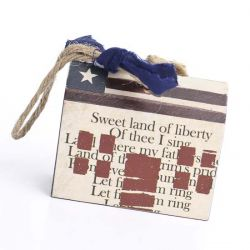 Americana Salt Box House Ornament