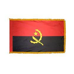 Indoor/Parade Nylon Angola Flag - 3 ft X 5 ft