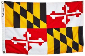 Nylon Maryland State Flag - 12 in X 18 in