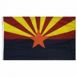 Nylon Arizona State Flag - 12 in X 18 in
