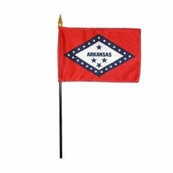 Arkansas Stick Flags - 8 in X 12 in