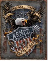 Armed Forces Vintage Tin Sign