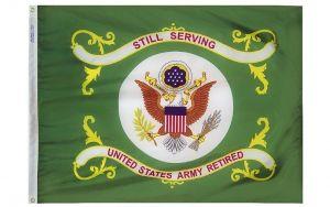 3' X 4' U.S. Army Retired Flag