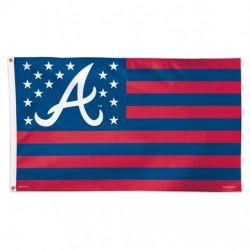 Atlanta Braves Stars and Stripes Flag