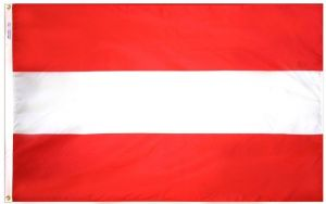 Nylon Austria Flag - 2 ft X 3 ft