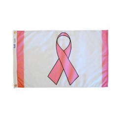 Deluxe Nylon Pink Ribbon Flag