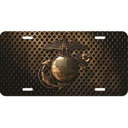 Bronzed U.S. Marines Logo License Plate