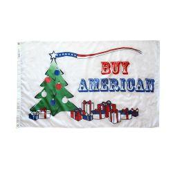 Buy American Christmas Flag