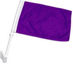Double-Sided Car Flag - Purple