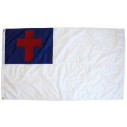 Nylon Christian Flag - 6 ft X 10 ft